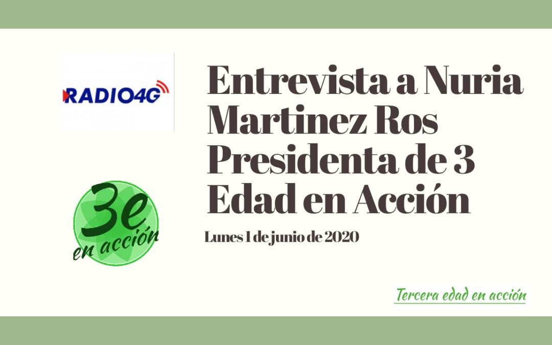 Entrevista a Dña. Nuria Martínez Ros, presidenta de 3 edad en Acción – 3edad.org