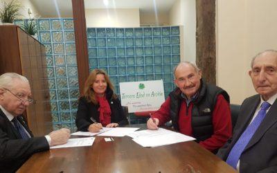 3 edad en Acción y la Asociación de Jubilados de España (AJUBE) firman un  acuerdo de colaboración.
