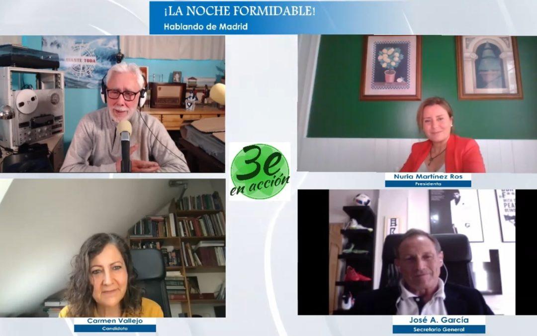 La Noche Formidable – Entrevista a Nuria Martínez Ros, José Ángel García y María Carmen Vallejo