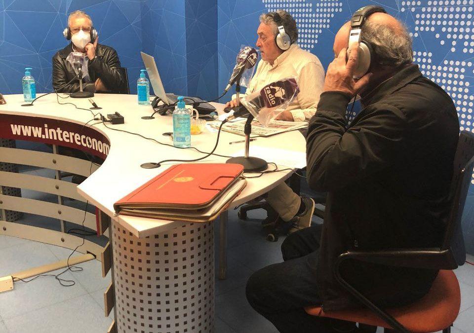 Radio Intereconomía de Valencia – Entrevista a Miguel Navarro, delegado provincial de Valencia, Enrique Olaso, secretario de organización y Nuria Martínez Ros