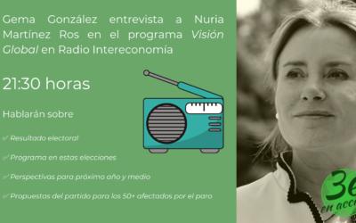 Radio Intereconomía – Entrevista a Nuria Martínez Ros en el programa Visión Global