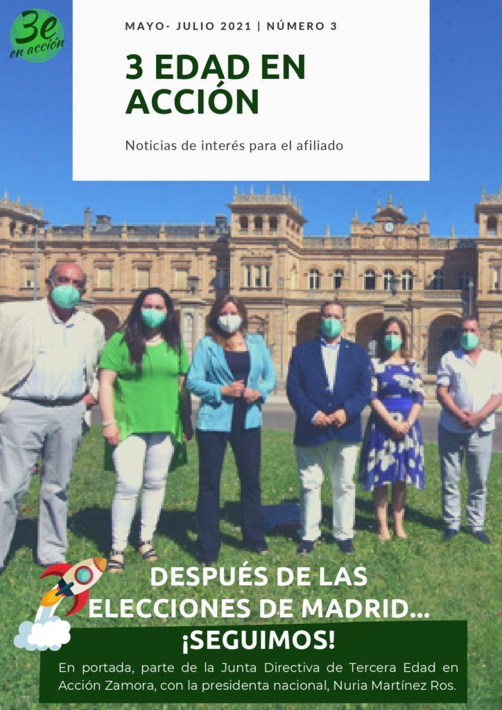 Portada newsletter 3 Tercera Edad en Acción mayo a julio 2021