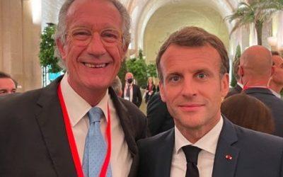 Albert Campabadal, nuestro presidente del Gran Consejo Nacional (de Sabios) invitado en Versalles por el gobierno francés