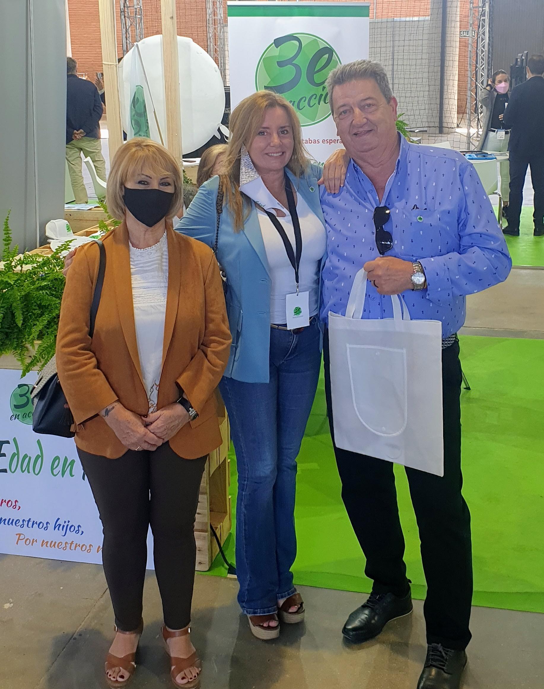 Juan Carlos Maroto delegado de Tercera Edad en Acción La Rioja en DiverSenior con Nuria Martínez Ros